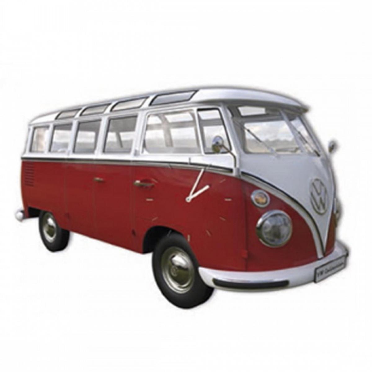 Horloge Murale bois \'Volkswagen\' rouge blanc - 28x18 cm - [R1958]