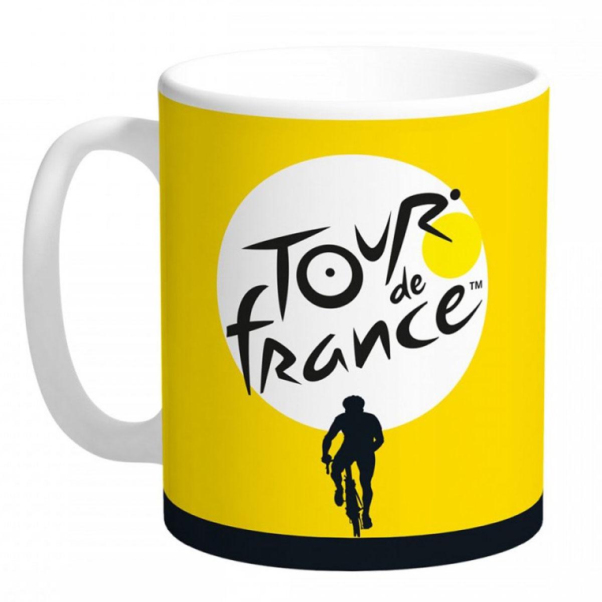 Mug céramique \'Tour de France\' jaune - 95x80 mm - [R5069]
