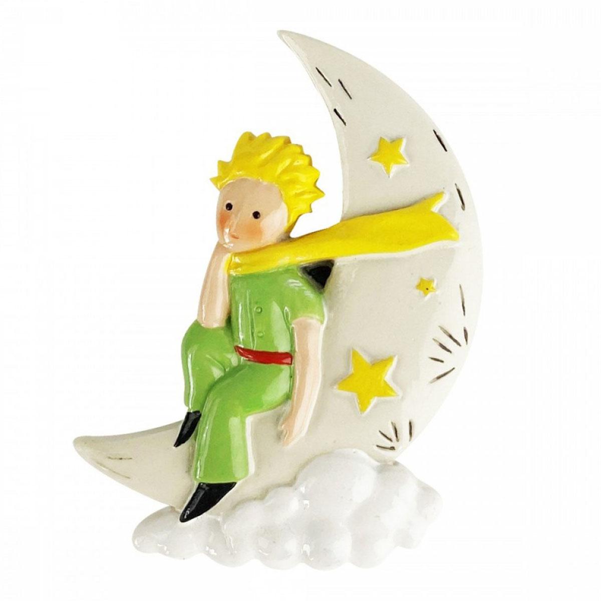Magnet résine \'Le Petit Prince\' vert beige - 7x5 cm - [A2840]