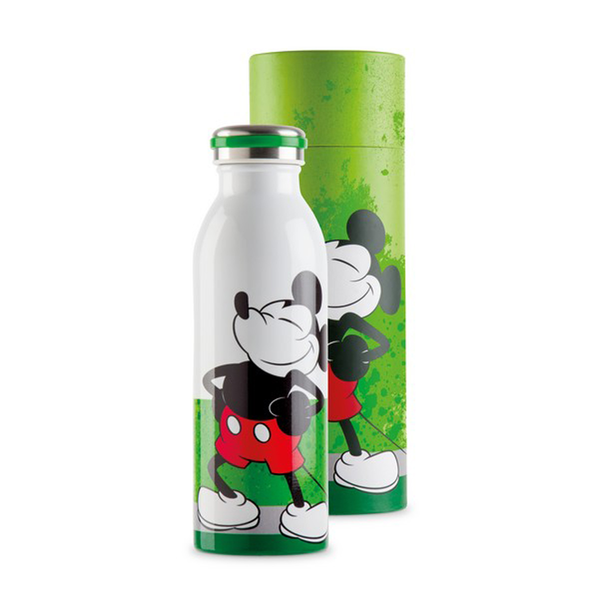Bouteille isotherme \'Mickey\' vert - 21x7 cm (500 ml) - [A2948]