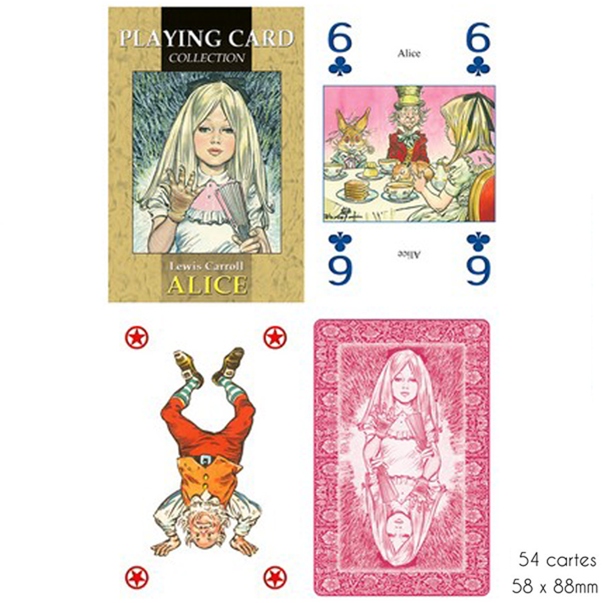 Jeu de cartes Créateur \'Alice\' Alice au pays des merveilles - 9x6x2 cm - [A2966]