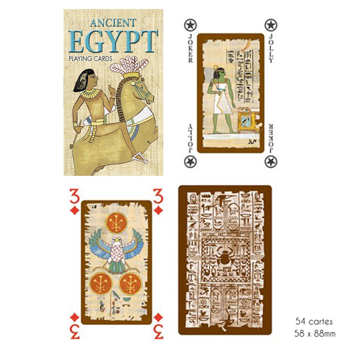 Jeu de cartes Créateur \'Egypte Ancienne\' beige - 9x6x2 cm - [A2967]