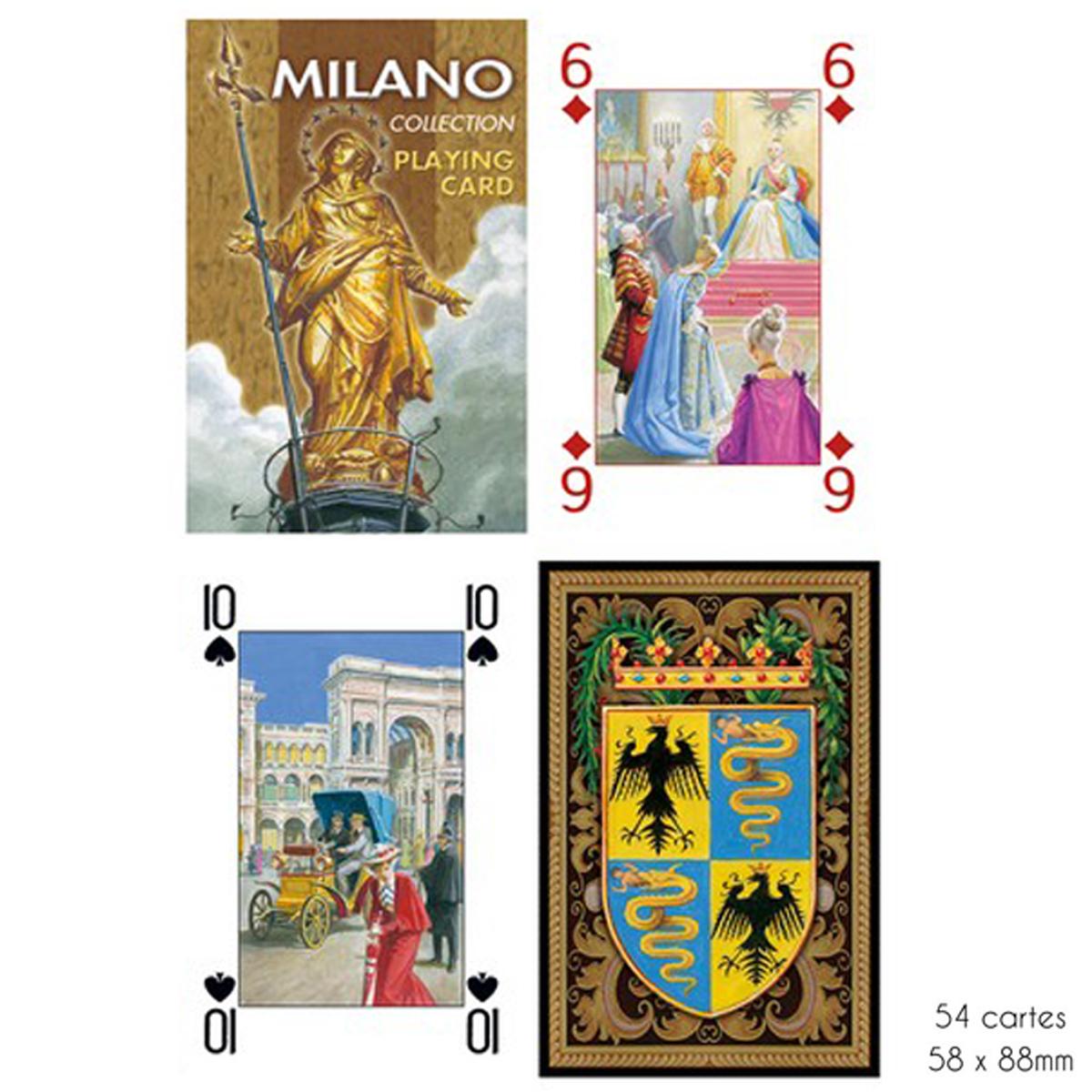 Jeu de cartes Créateur \'Milano\' beige - 9x6x2 cm - [A2974]