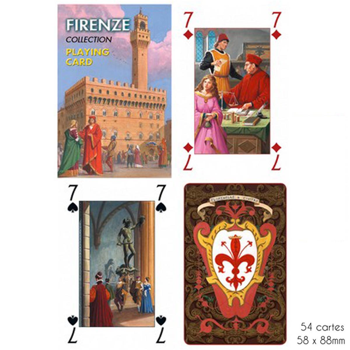 Jeu de cartes Créateur \'Firenze\'  - 9x6x2 cm - [A2975]