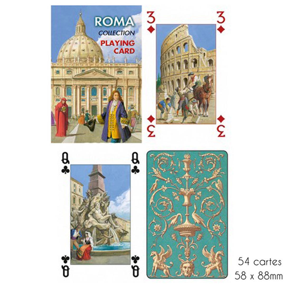 Jeu de cartes Créateur \'Roma\' - 9x6x2 cm - [A2976]