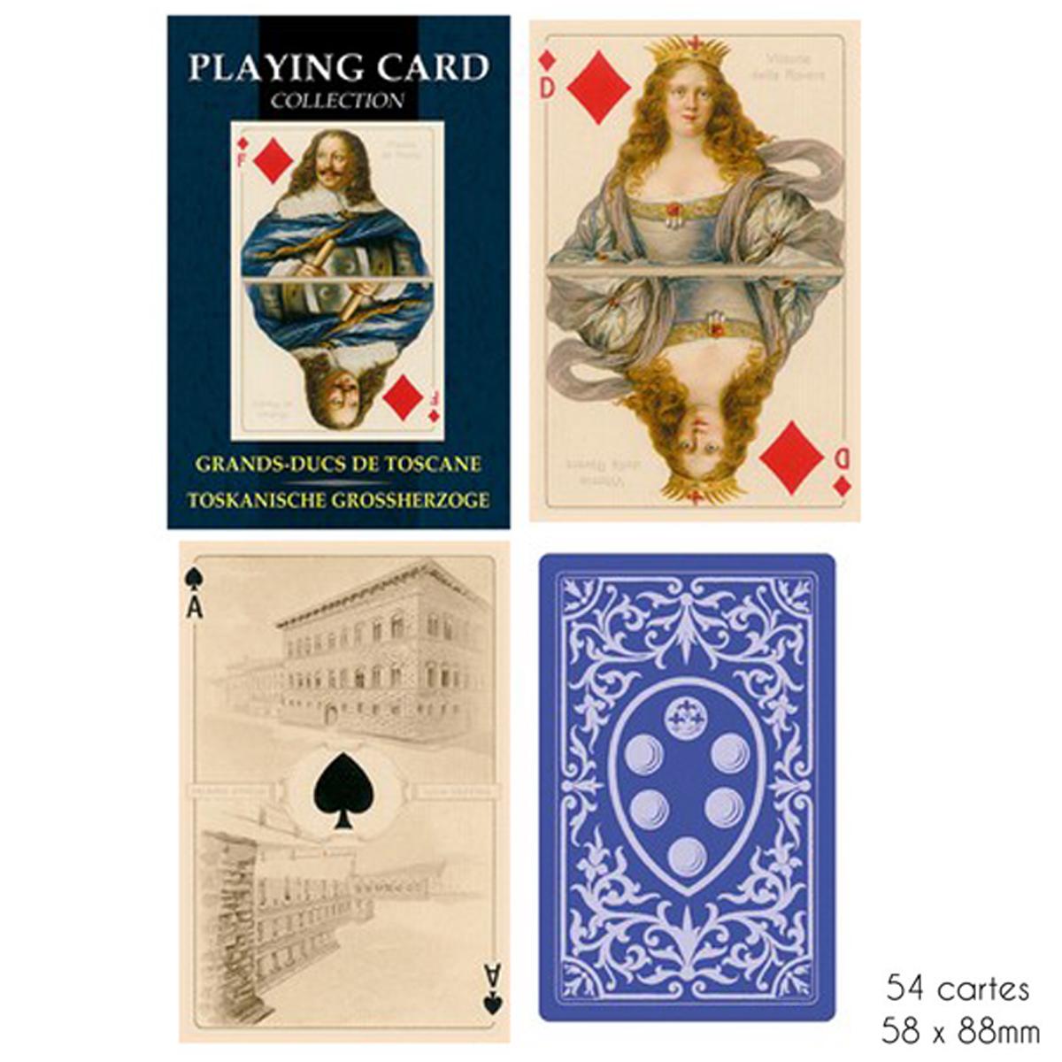 Jeu de cartes Créateur \'Grands Ducs de Toscane\' - 9x6x2 cm - [A2978]
