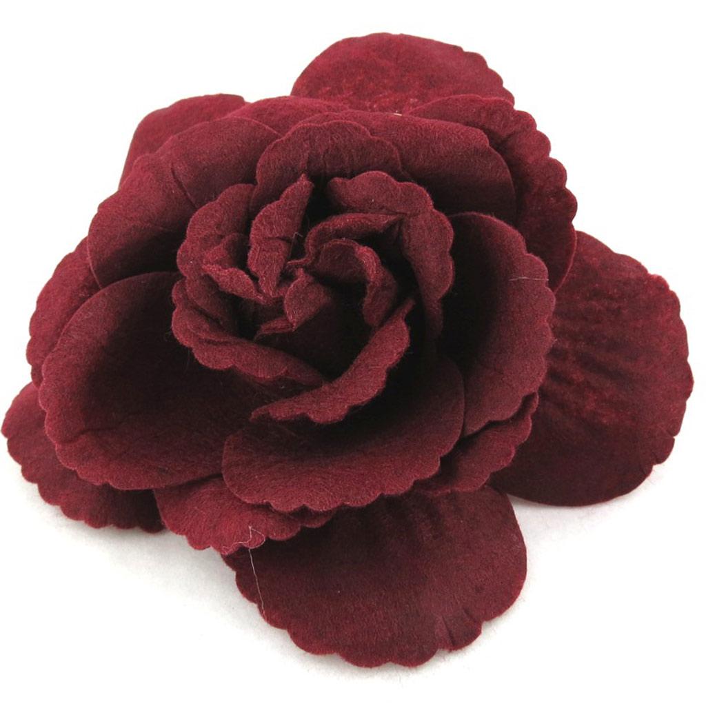Broche Créateur \'Rose Féérique\' bordeaux - [N1197]