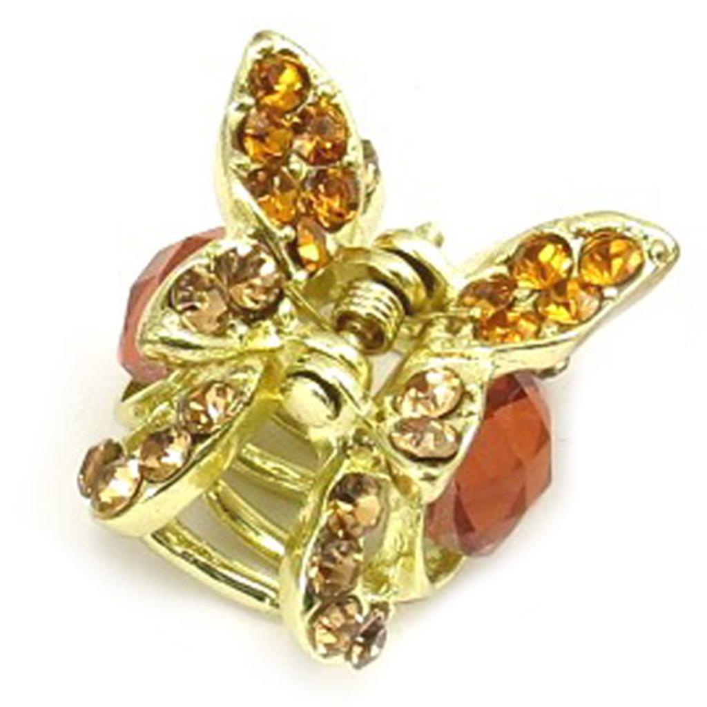 Mini pince créateur \'Sissi\' rose doré (papillon) - 30x30x18 mm - [R5332]
