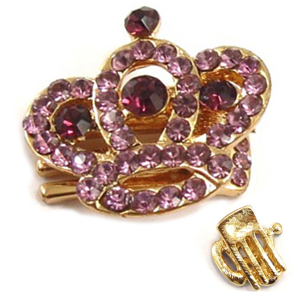 Mini-pince créateur \'Sissi\' rose doré (couronne) - 25x25 mm - [R5336]