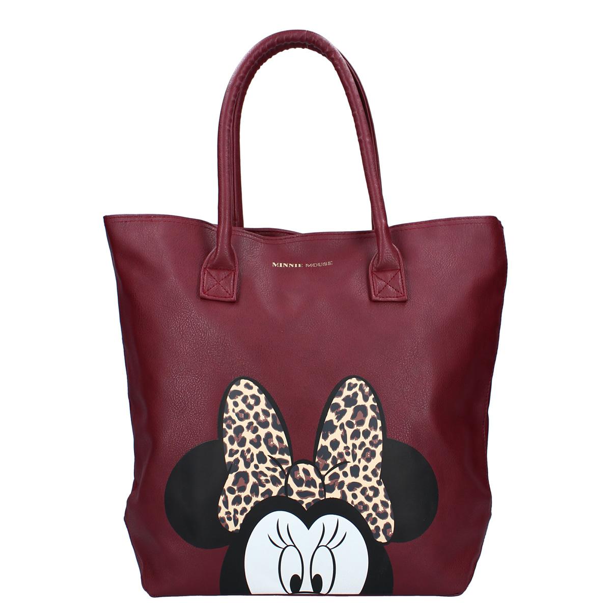 Sac shopping créateur \'Minnie\' rouge bordeaux - 36x30x13 cm - [A0575]