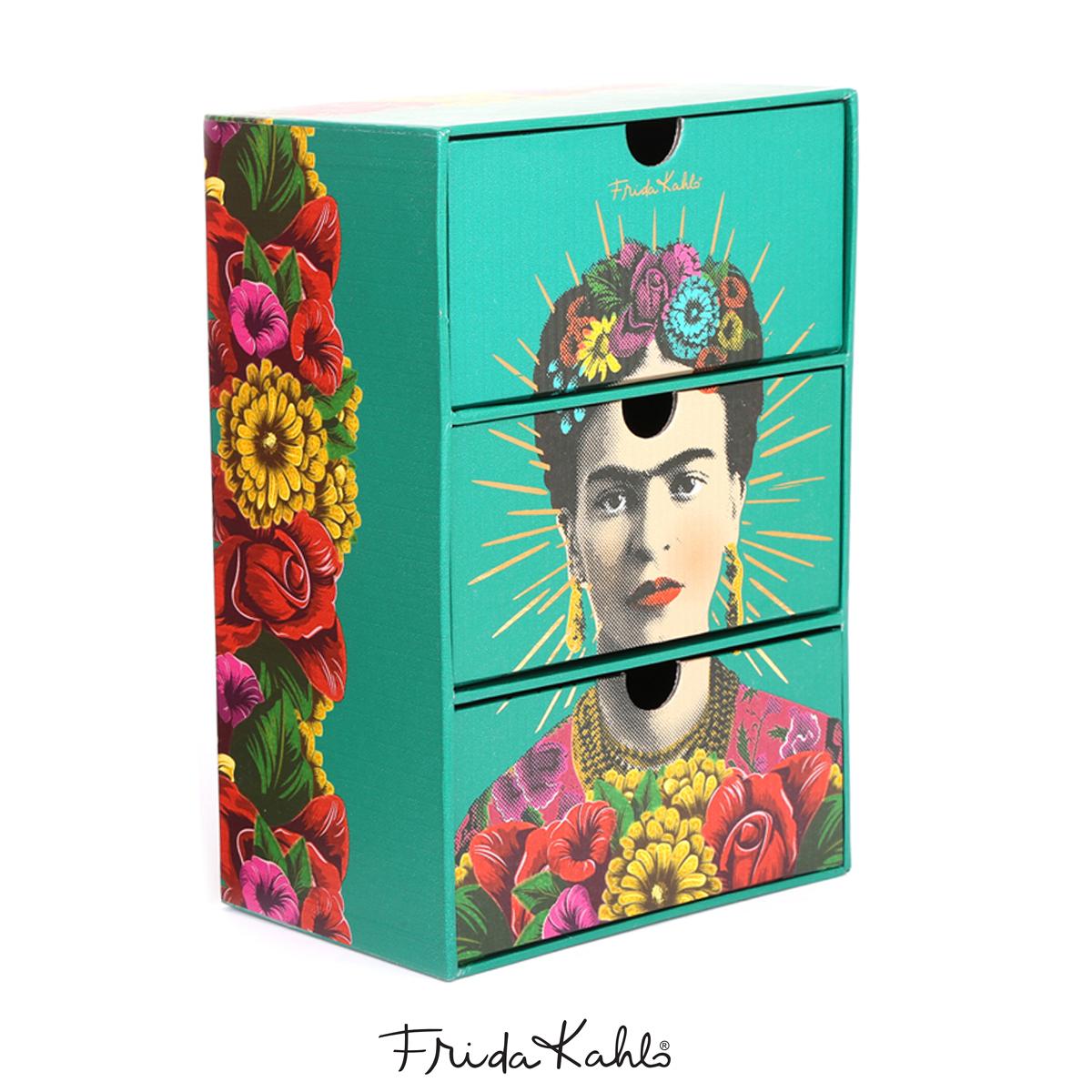 Boite de rangement / bijoux \'Frida Kahlo\' vert - 22x15x10 cm - [A0604]