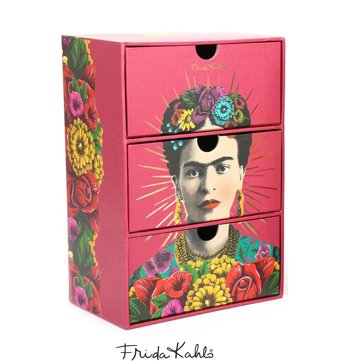 Boite de rangement / bijoux \'Frida Kahlo\' rouge - 22x15x10 cm - [A0605]