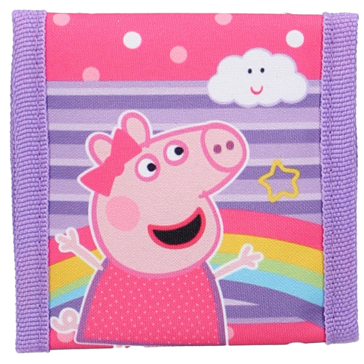 Portefeuille scratch \'Peppa Pig\' violet rose - 10x10 cm - [A3029]