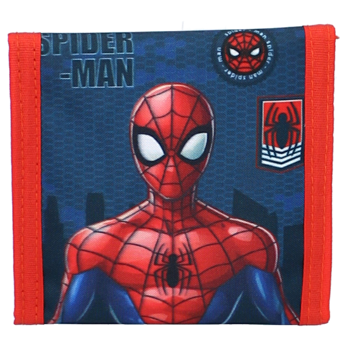Portefeuille scratch \'Spiderman\' bleu rouge - 10x10 cm - [A3031]