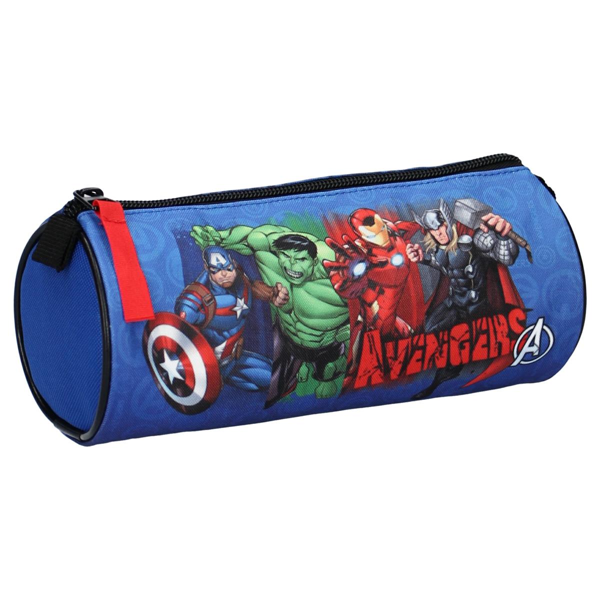 Trousse tube \'Avengers\' bleu multicolore - 20x7 cm - [A3033]