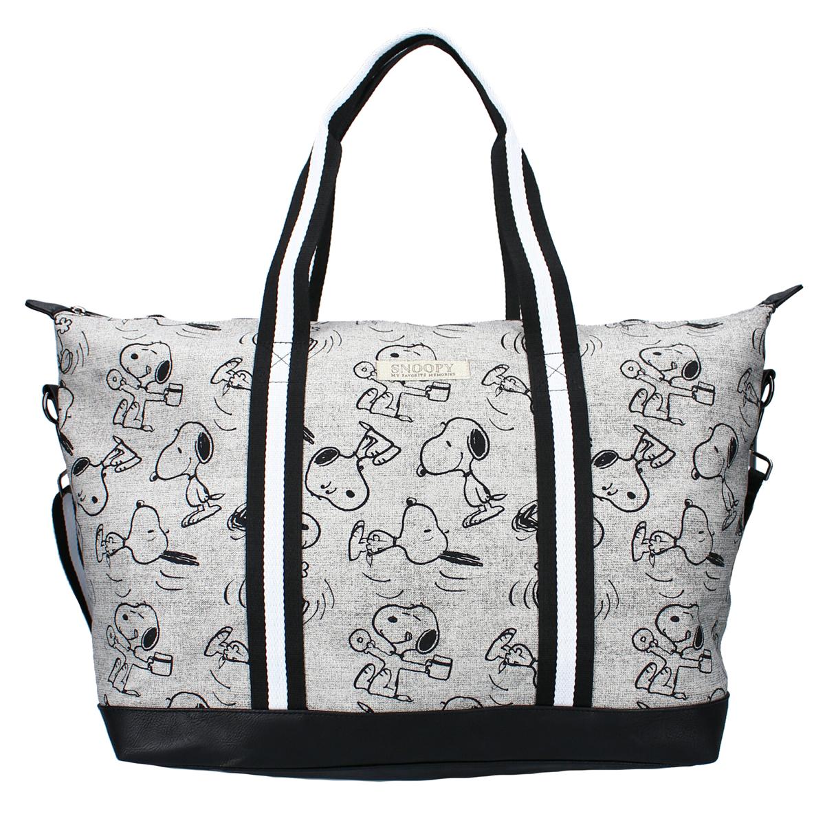 Sac shopping créateur \'Snoopy\' gris - 52x36x18 cm - [A3036]