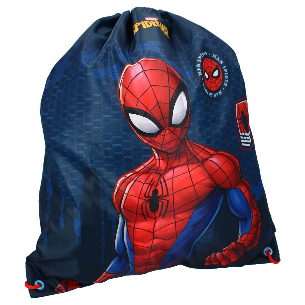 Sac piscine \'Spiderman\' bleu rouge - 44x37 cm - [A3047]