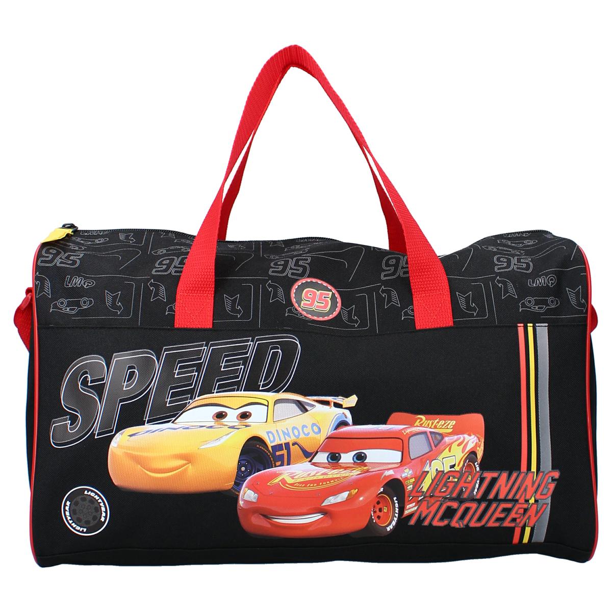 Sac de sport créateur \'Cars\' noir rouge - 40x24x19 cm - [A3054]