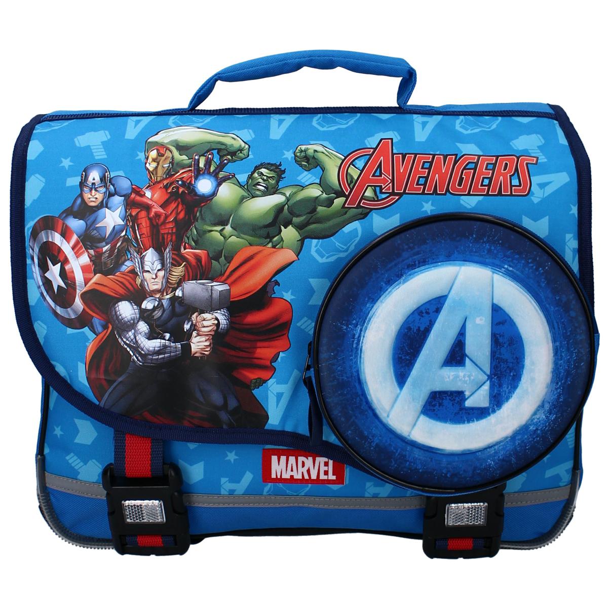 Cartable créateur \'Avengers\' bleu - 38x33x12 cm - [A3057]