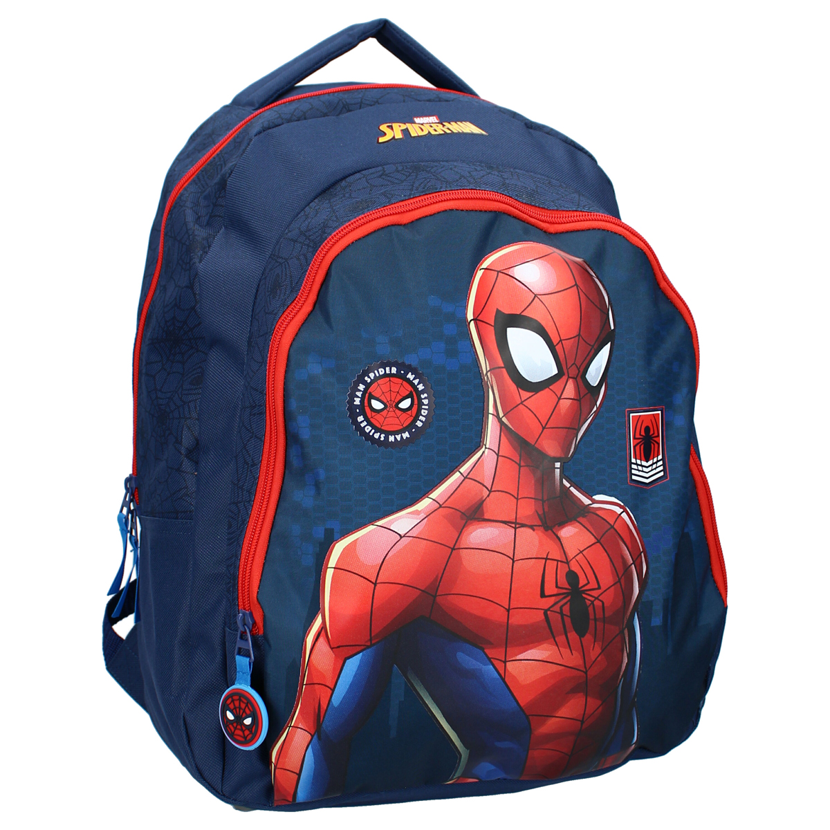 Grand sac à dos créateur \'Spiderman\' gris - 45x35x15 cm - [A3061]