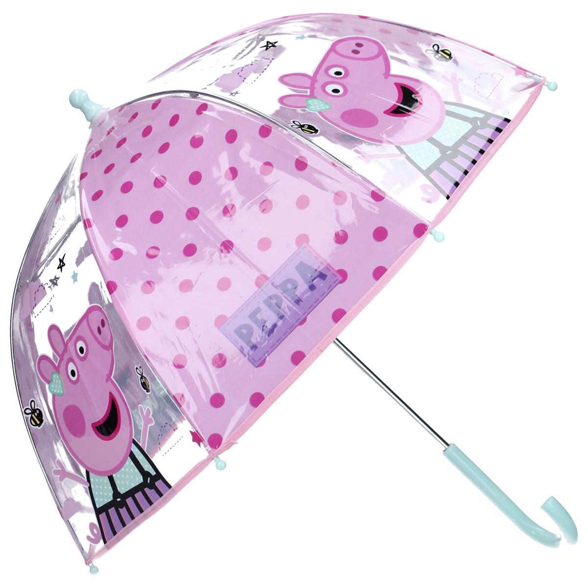 Parapluie canne pvc enfant \'Peppa Pig\' rose - 61x73 cm - [A3062]