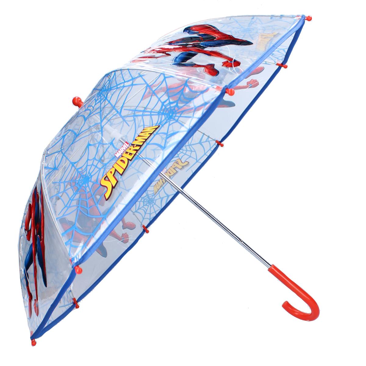 Parapluie canne pvc enfant \'Spiderman\' bleu - 61x73 cm - [A3063]