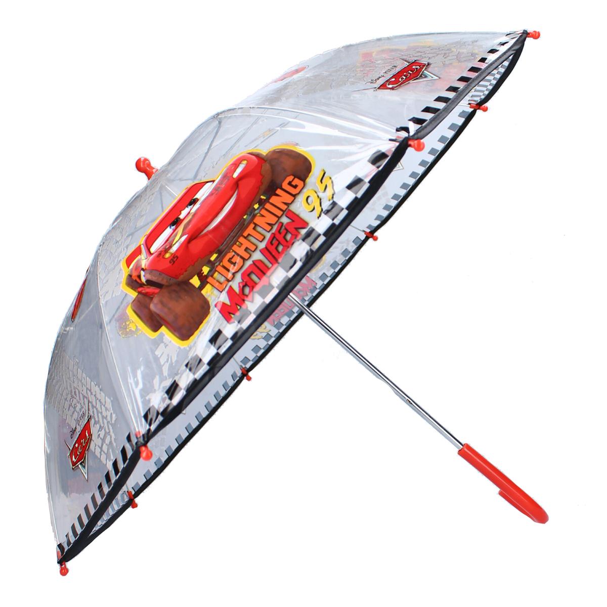 Parapluie canne pvc enfant \'Cars\' rouge - 61x73 cm - [A3064]