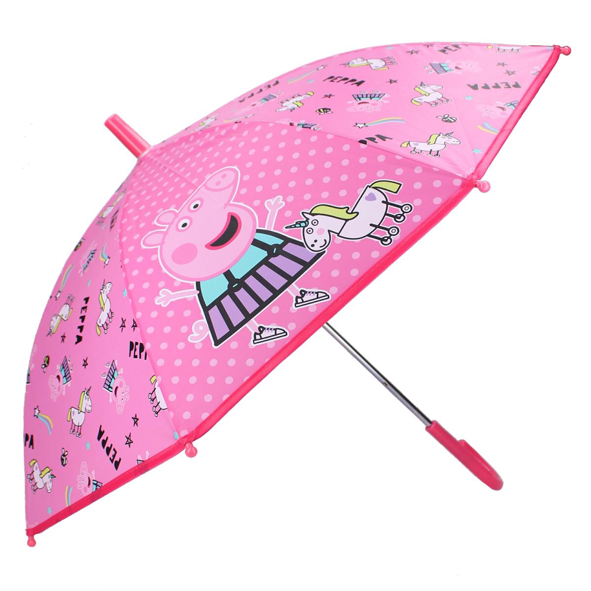 Parapluie canne enfant \'Peppa Pig\' rose - 63x70 cm - [A3065]