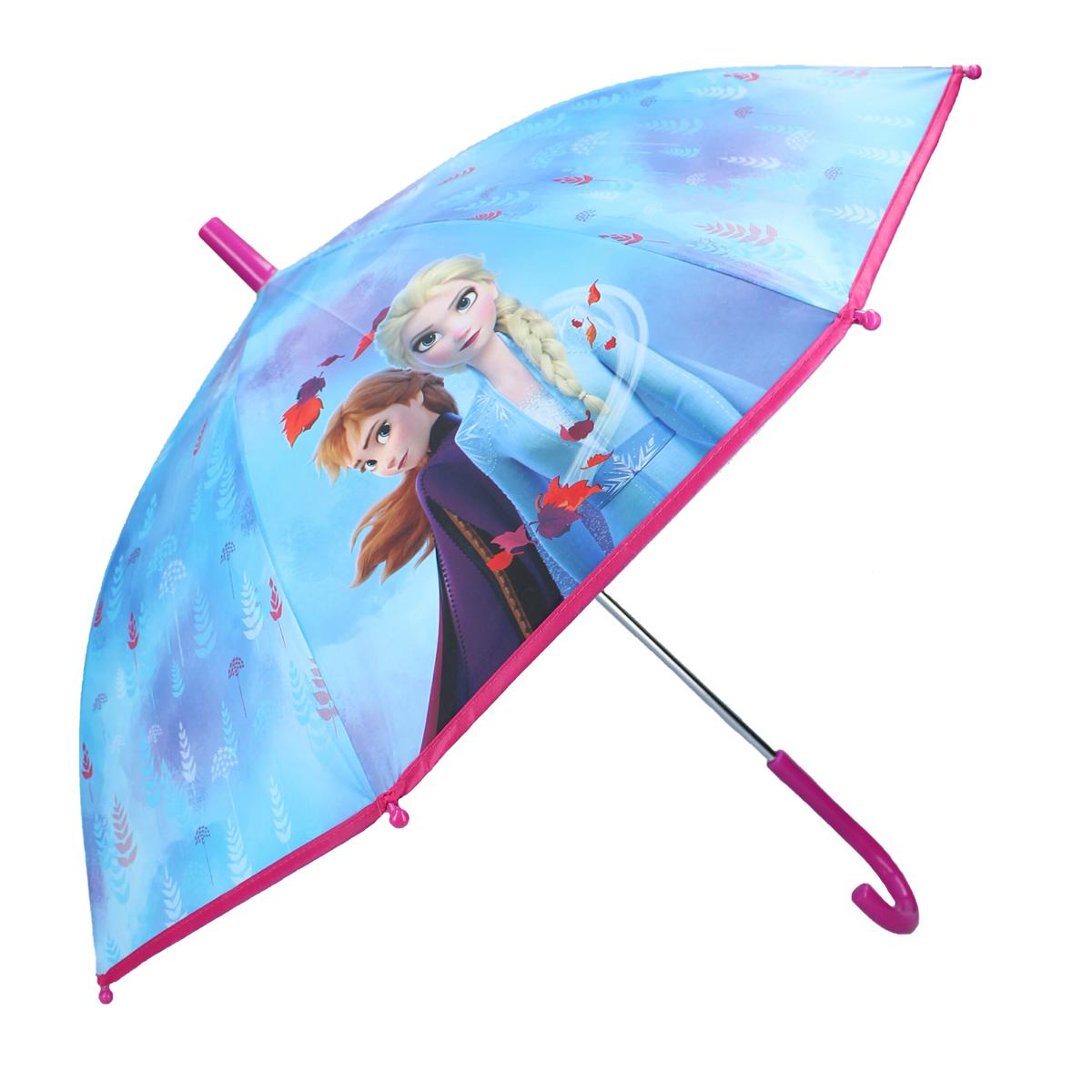Parapluie canne enfant \'Frozen - Reine des Neiges\' bleu - 63x70 cm - [A3066]