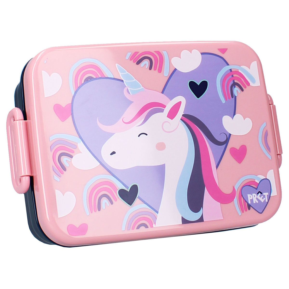 Lunch box \'Licorne My Unicorn\' rose - 16x13x5 cm - [A3069]