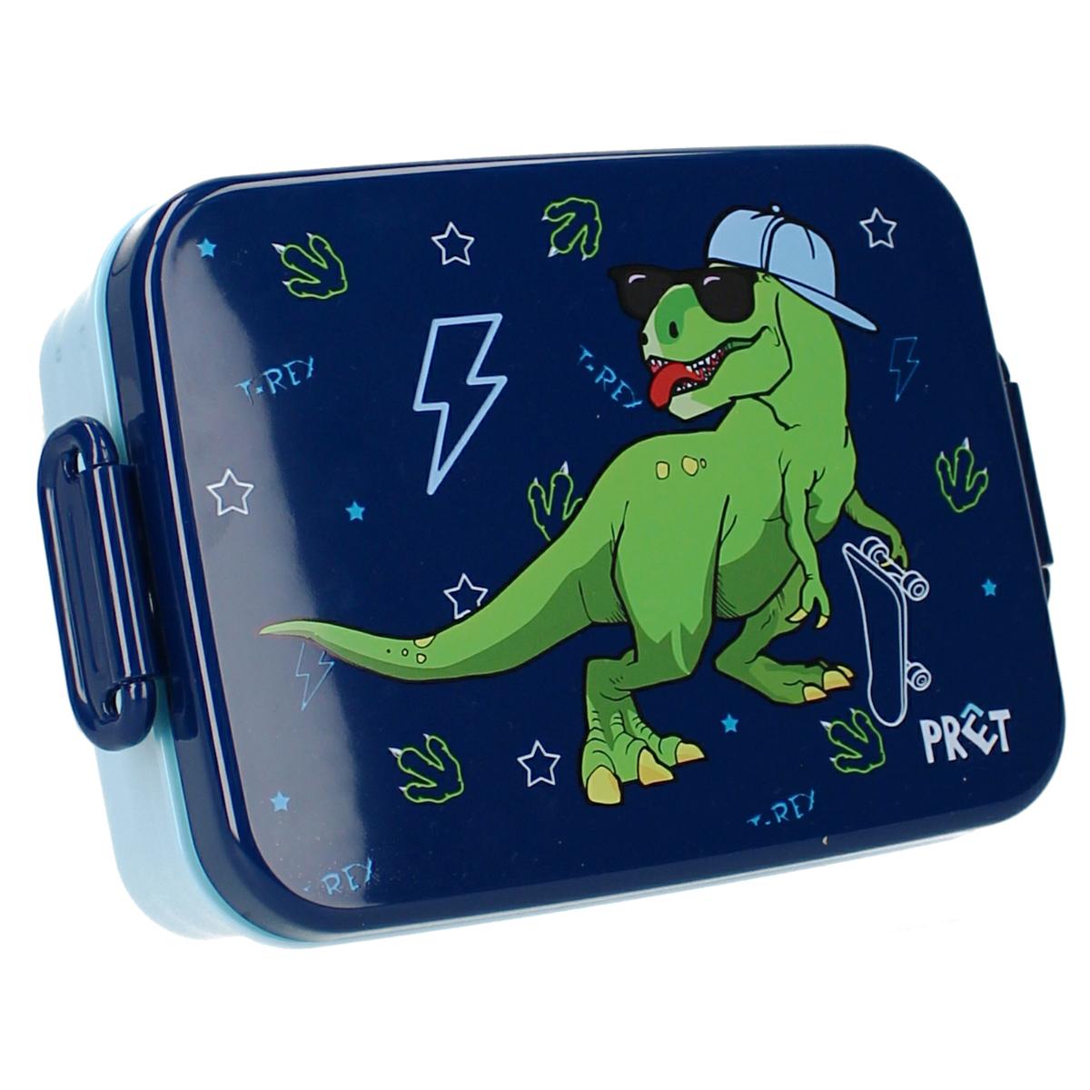 Lunch box \'Dinosaure\' bleu vert - 16x13x5 cm - [A3070]