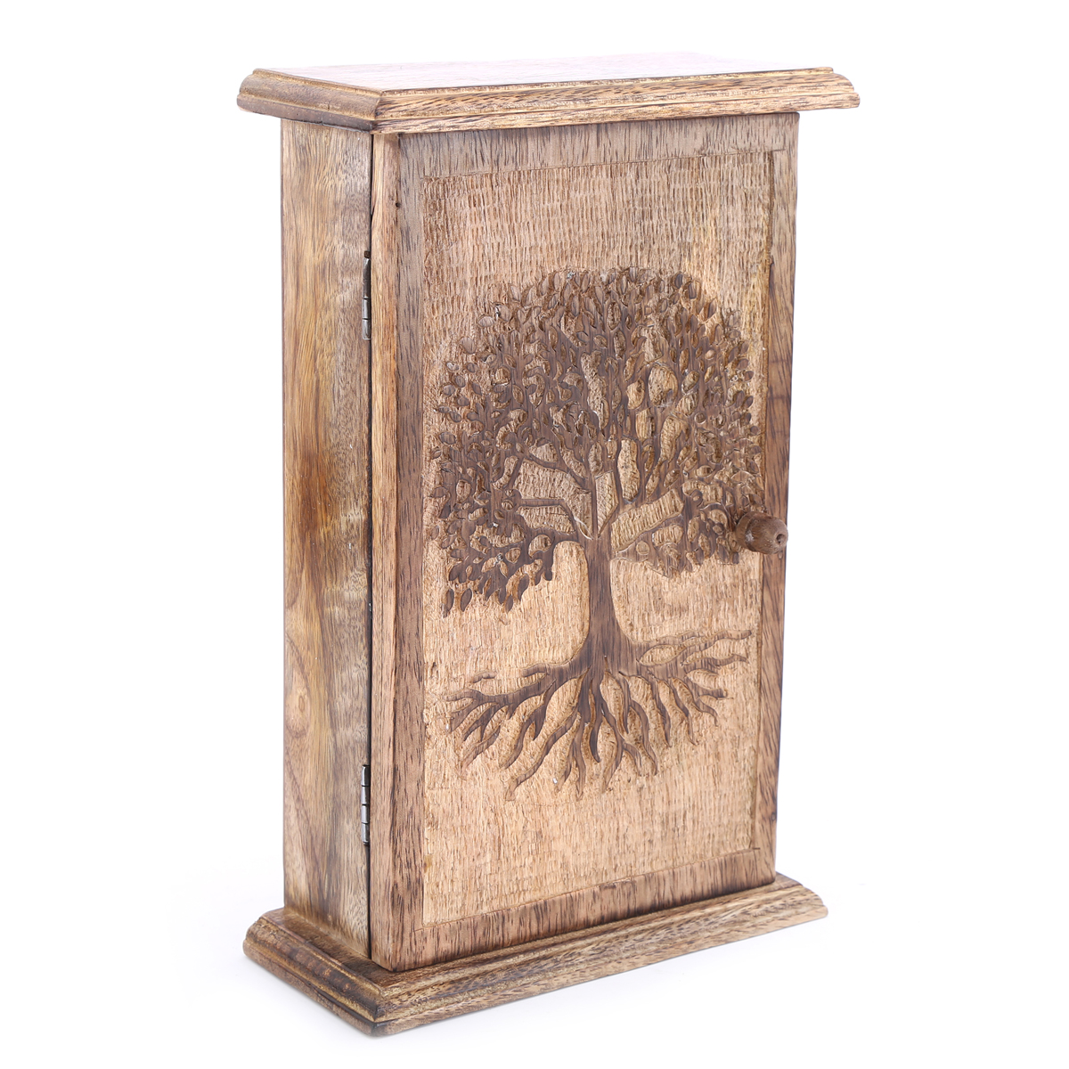 Boite à clés bois \'Arbre de Vie\' (6 crochets) - 28x18x7 cm - [A3074]