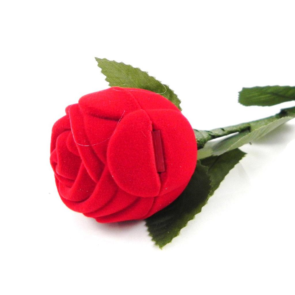 Ecrin Bague \'Rose Déclaration\' - 26x4 cm - [C2166]