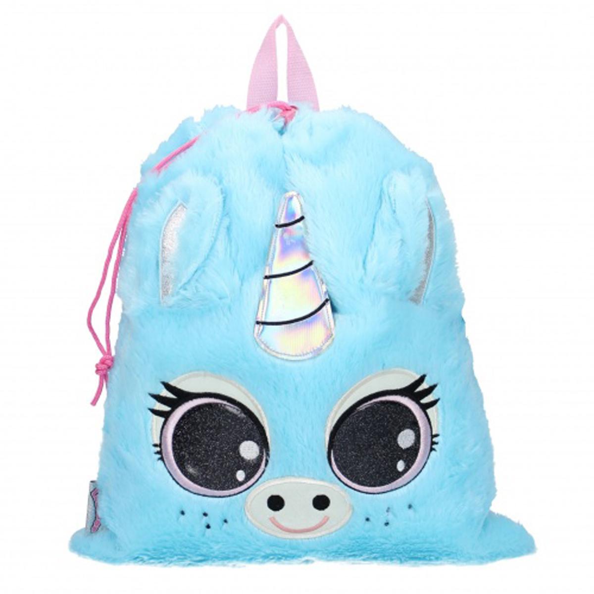 Sac de gym \'Licorne My Unicorn\' bleu (Lulupop & the Cutiepies) - 44x37 cm - [Q9752]