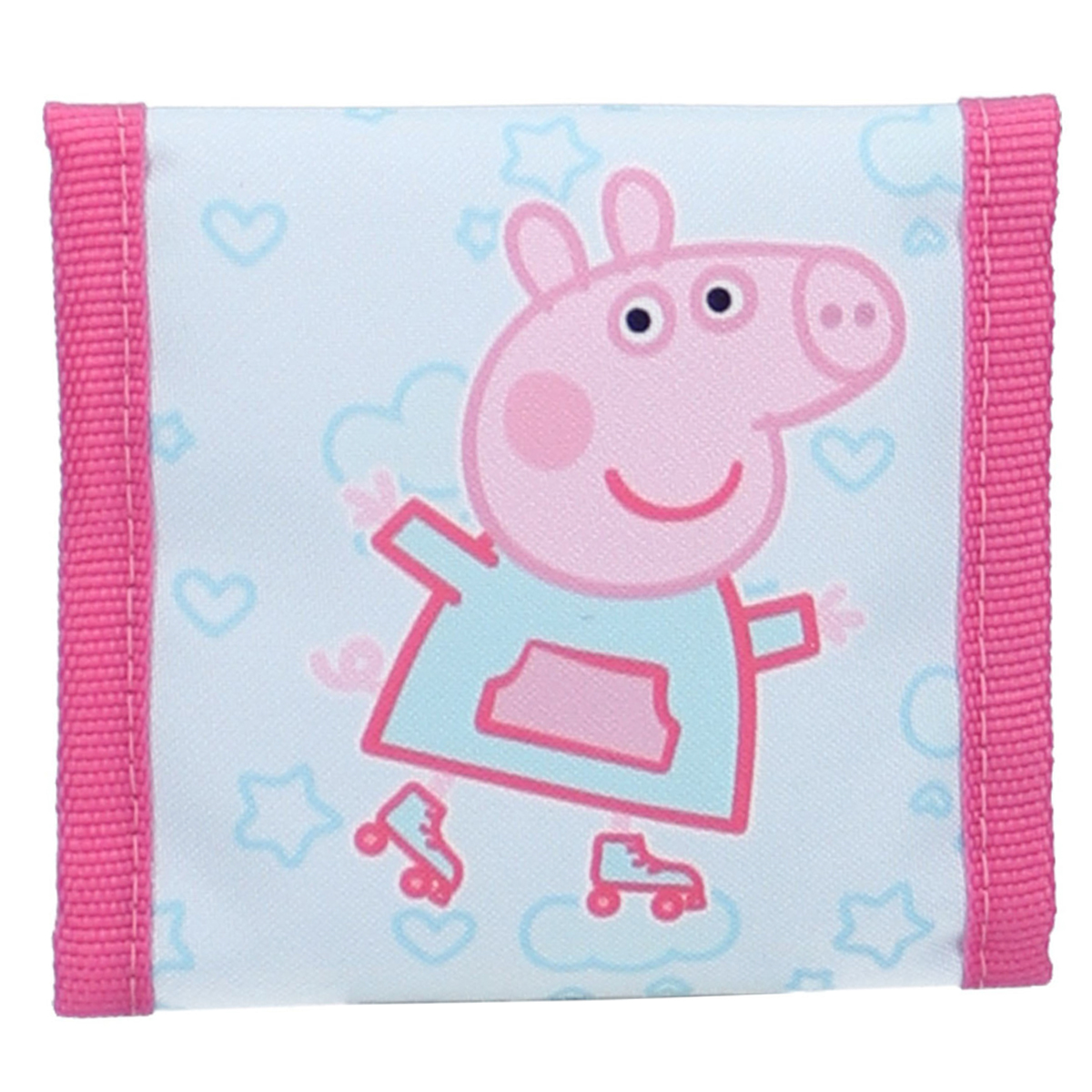 Portefeuille scratch \'Peppa Pig\' bleu rose - 10x10 cm - [R0504]