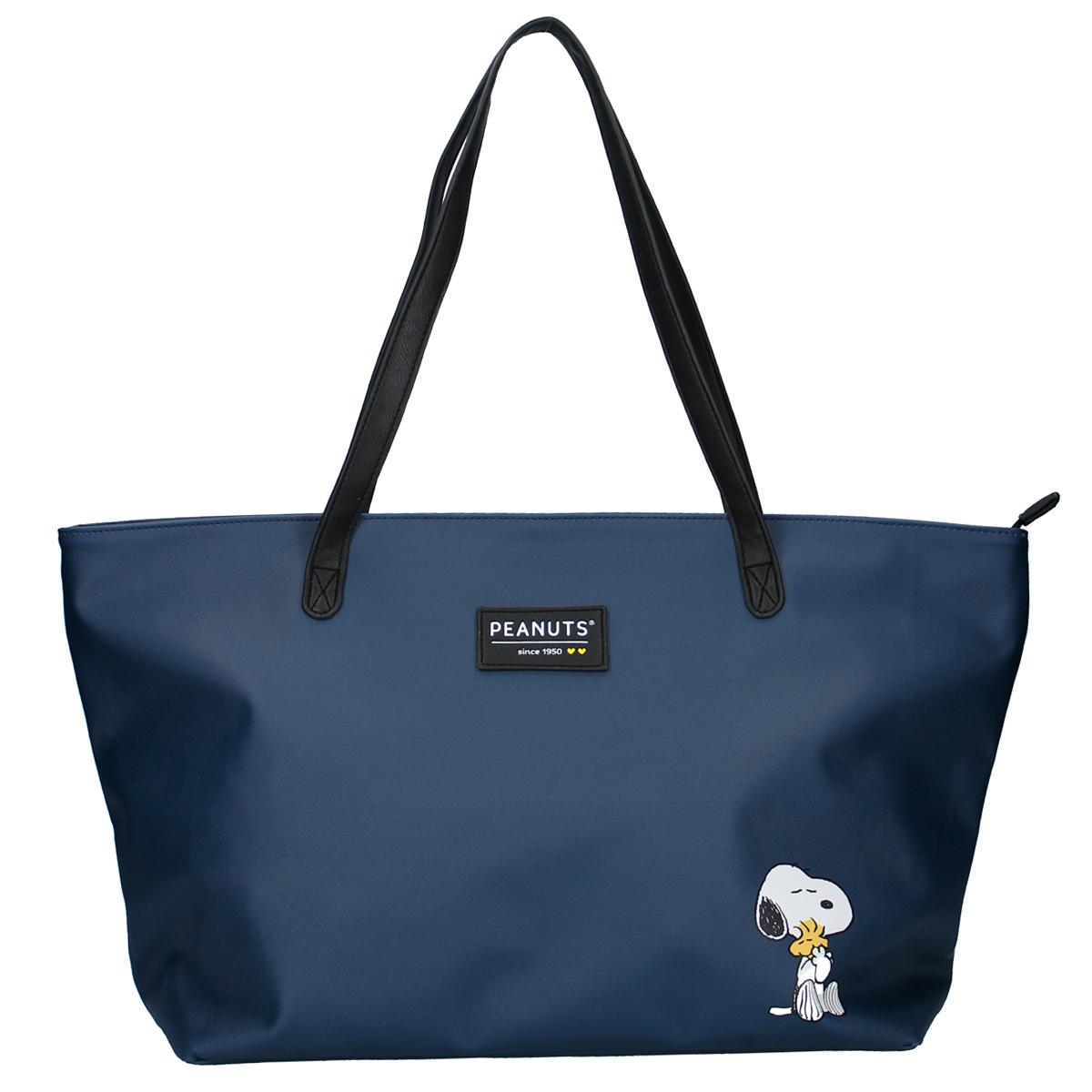 Sac shopping créateur \'Snoopy\' marine - 55x34x18 cm - [R0508]