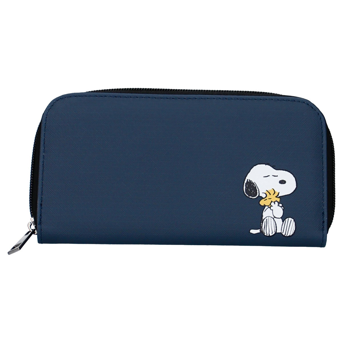 Grand porte-monnaie zippé \'Snoopy\' marine - 19x10x2 cm - [R0511]