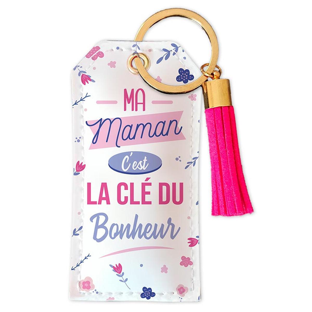Porte-clés \'Maman\' Ma Maman c\'est la clé du Bonheur - 90x45 mm - [R5438]