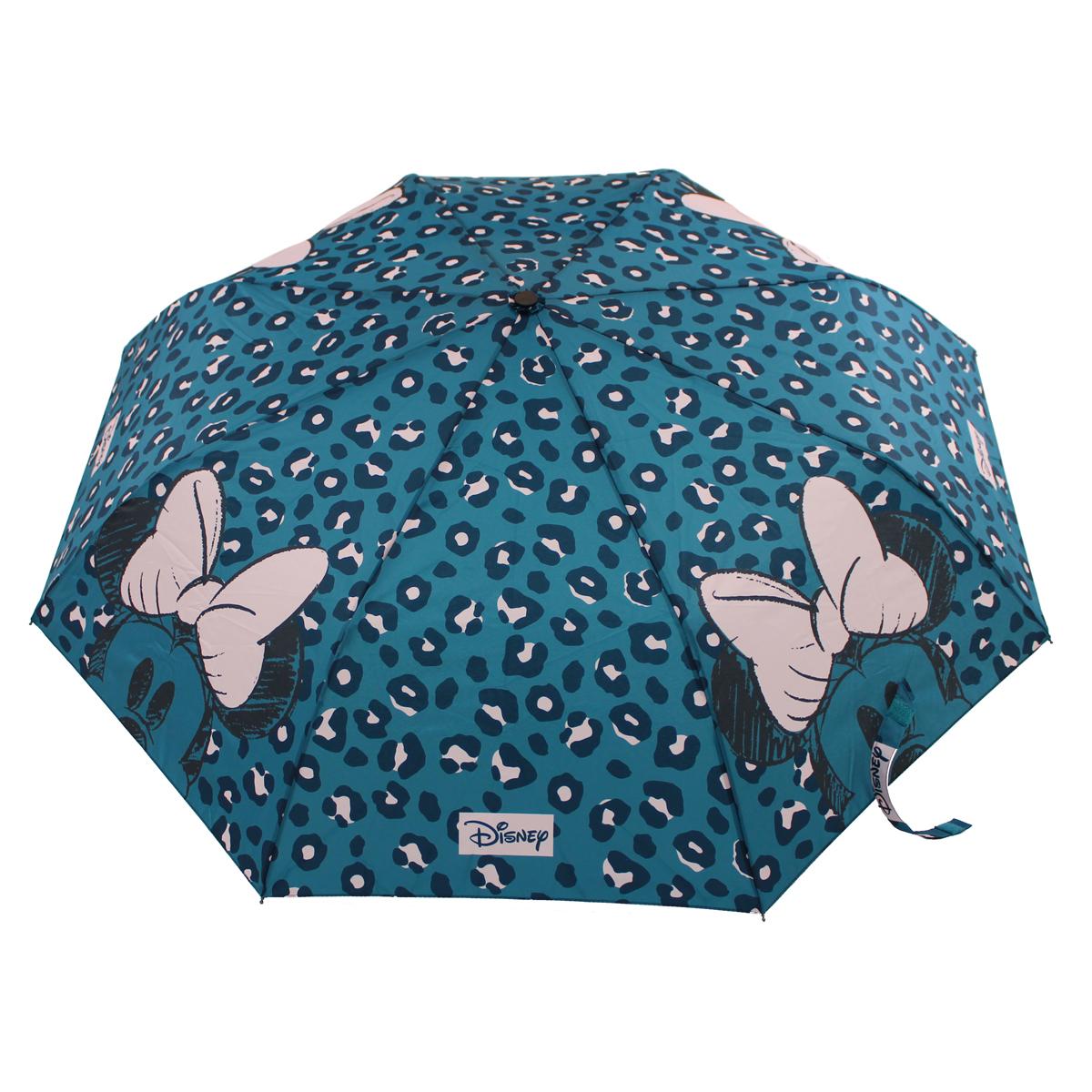 Parapluie automatique \' turquoise rose - ouvert 56x100 cm, fermé 30x4 cm - [A3068]