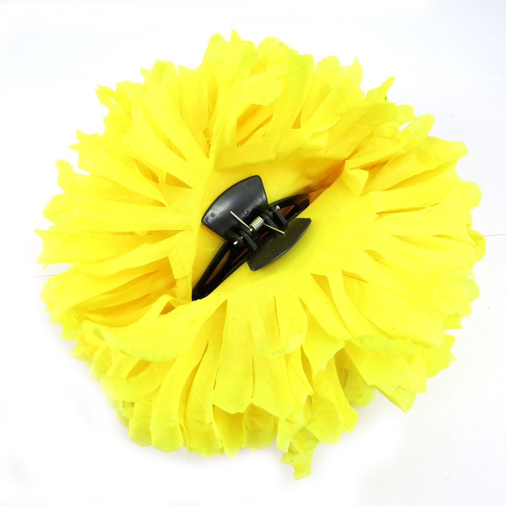 Pince géante \'Vahiné\' jaune - 18 cm - [L3116]