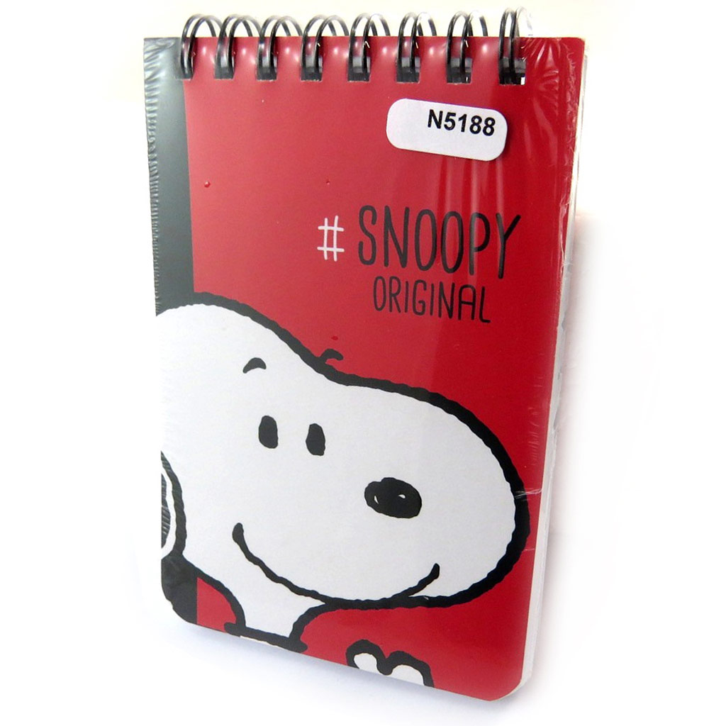 Carnet A7 \'Snoopy\' rouge (Snoopy original) - [N5188]