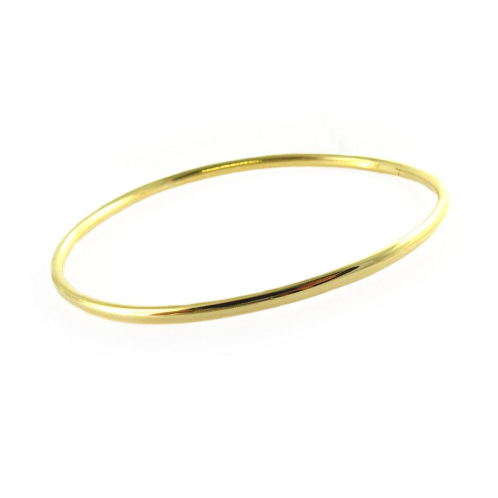 Bracelet plaqué or \'Demi-Jonc\' - 60 mm 3 mm - [N7275]