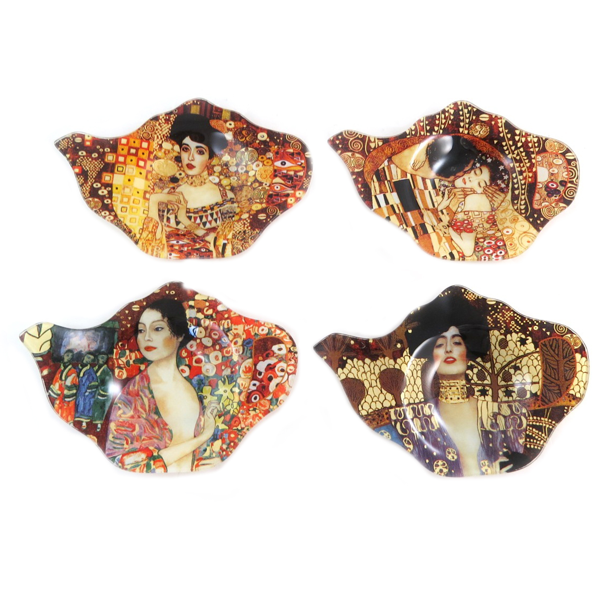 Coffret de 4 repose sachets \'Gustav Klimt\' - chacun 14x95 cm - [Q0240]