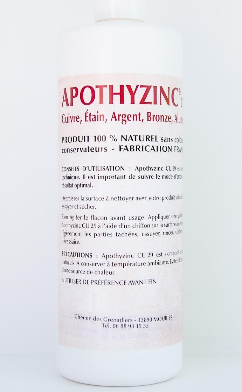 APOTHYZINC Cu 29 NETTOYANT DÉSOXYDANT NATUREL TOUT MÉTAUX