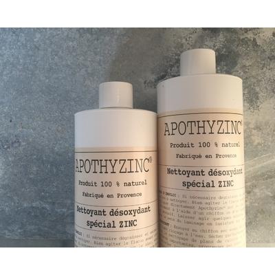 APOTHYZINC  LOT de 2 x 500 ml  NETTOYANT RENOVANT  DÉSOXYDANT NATUREL