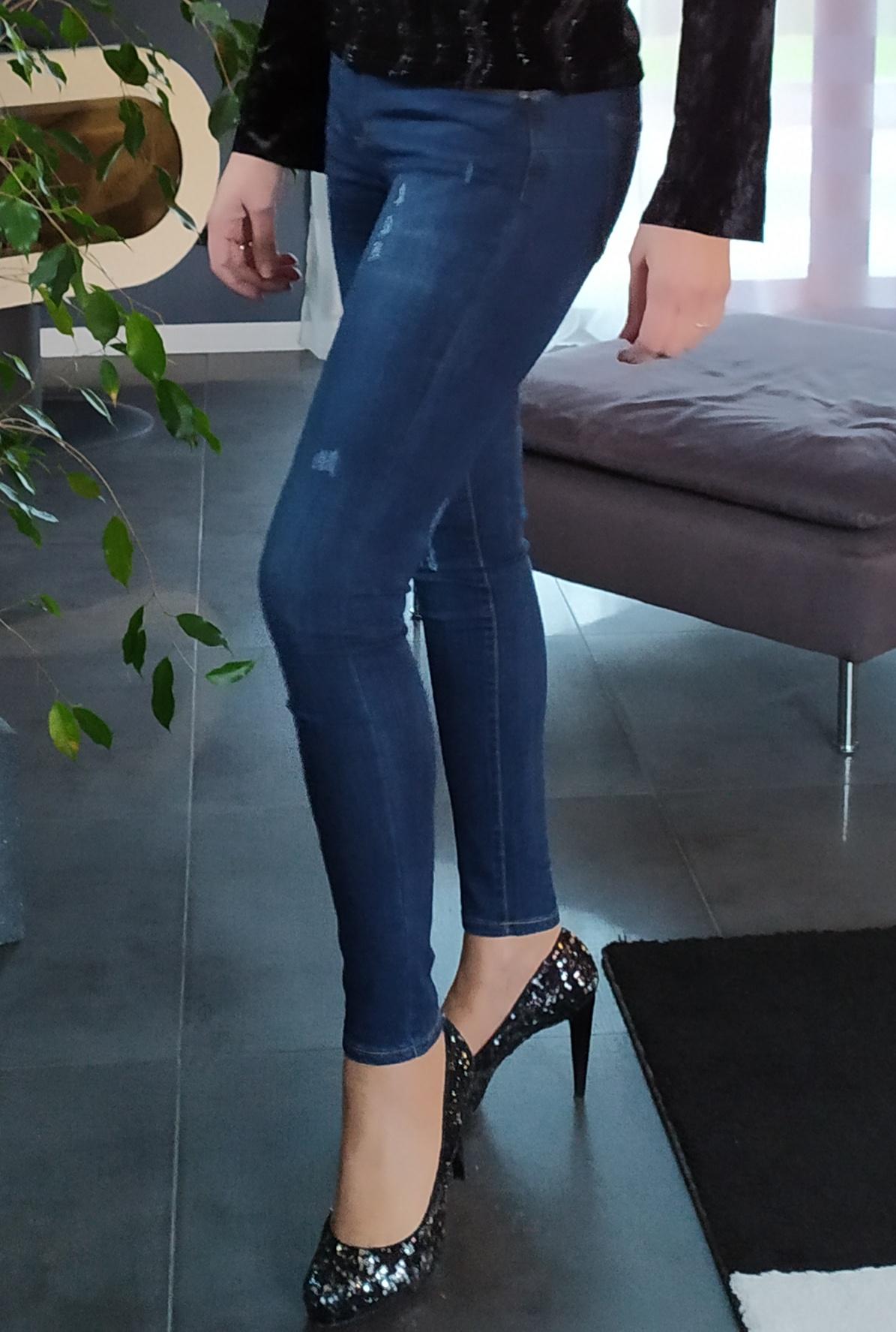 Jean skinny usé push up