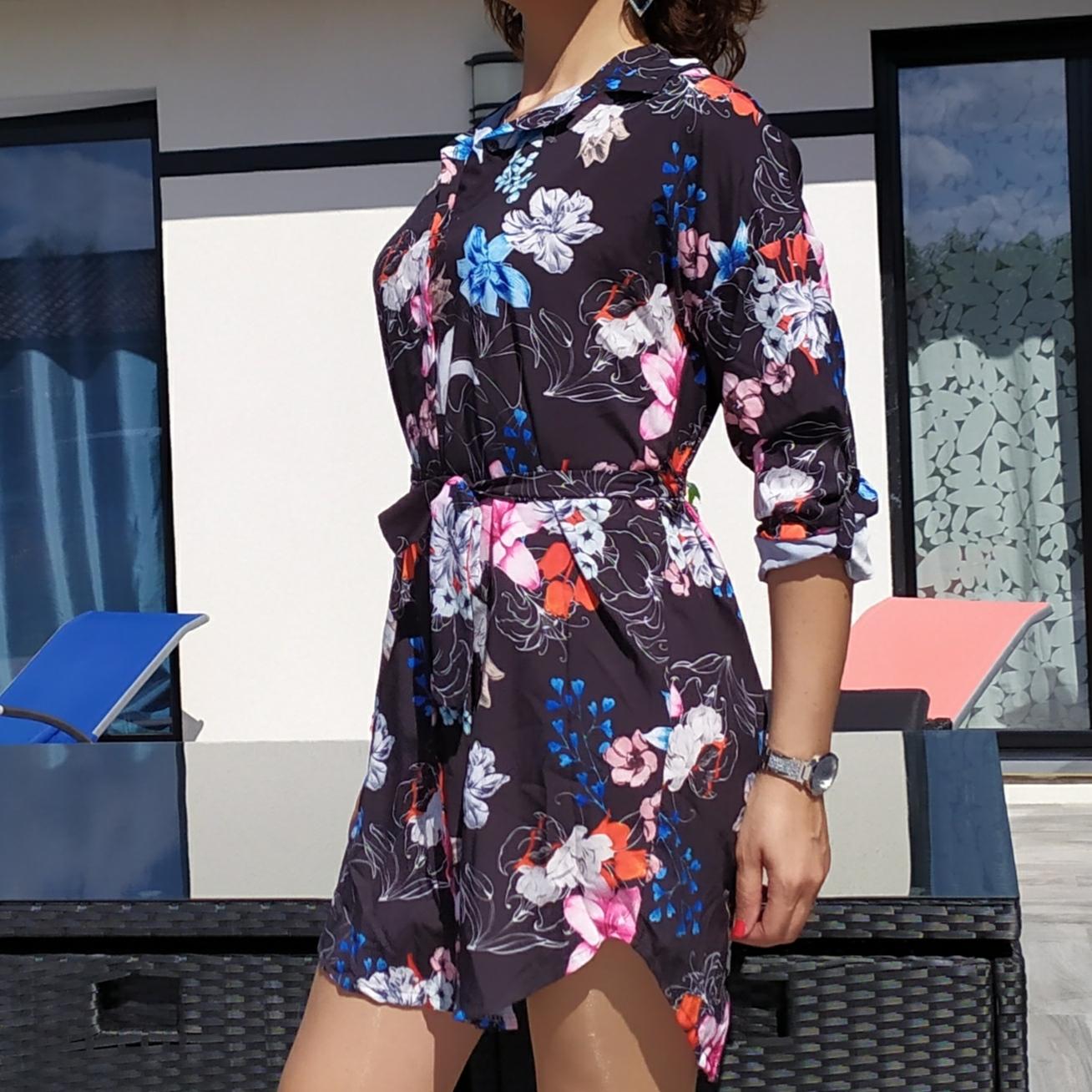 BAYA robe motif fleur mode femme