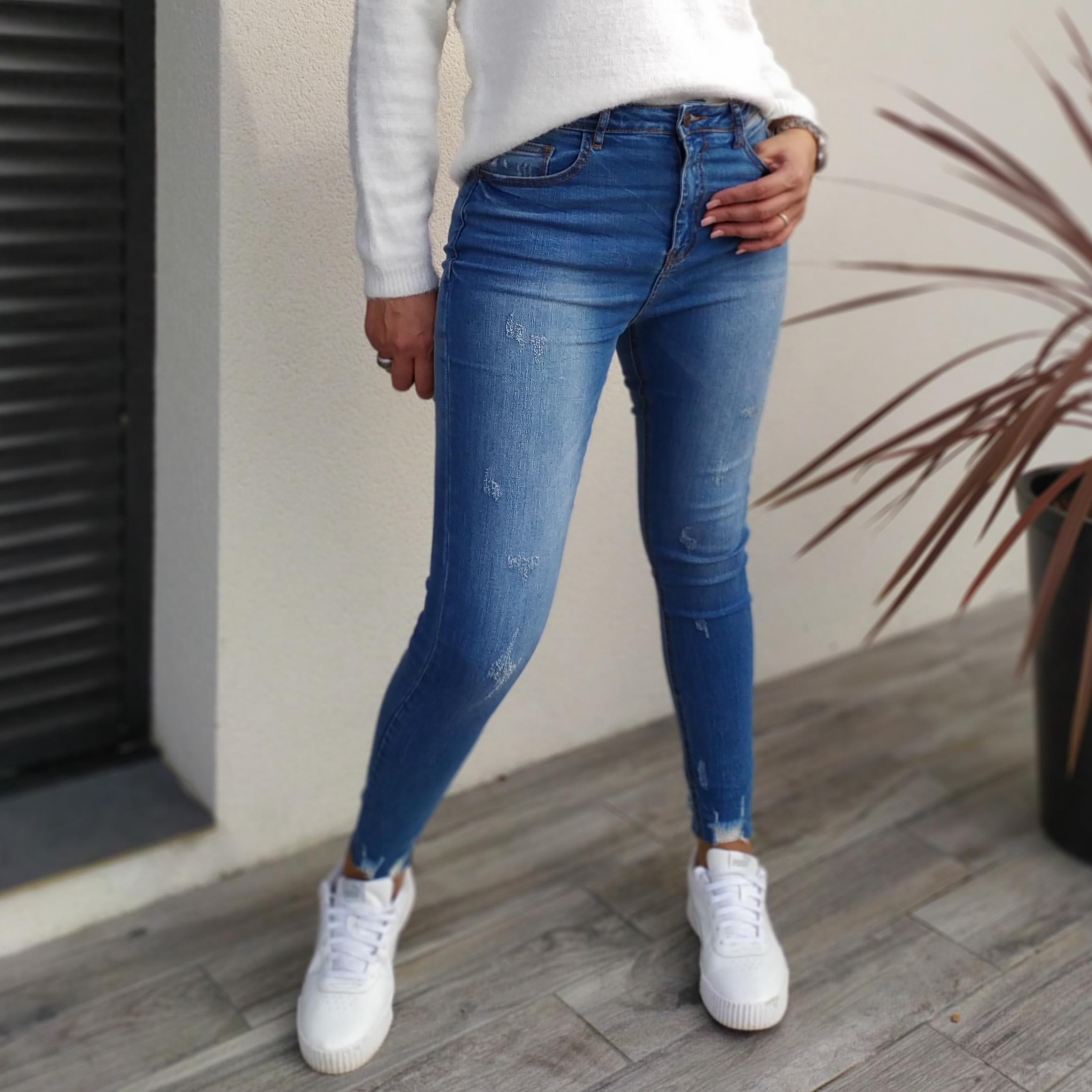 Jean skinny usé Dina