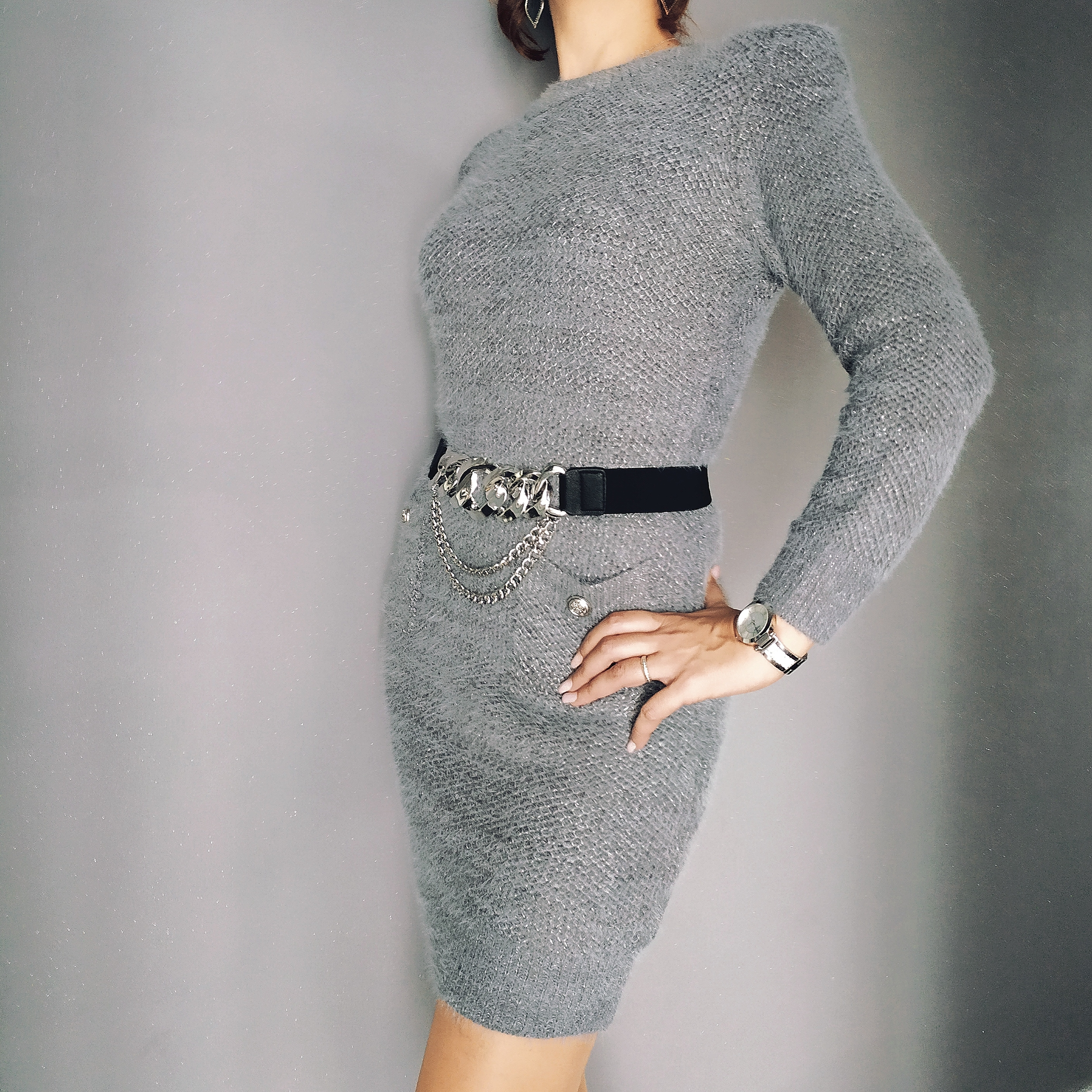 ASHLEY robe pull doux femme