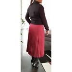 jupe plissée rouge femme tendance
